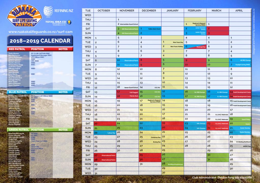 Wall Calendar 2018 19